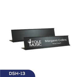 Black Desk Sign Holder DSH-13