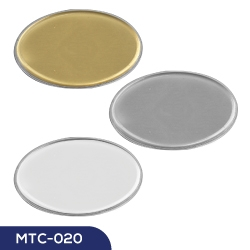 Lens Cover Oval Name Badges MTC-020