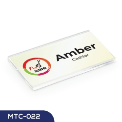 Reusable Acrylic Name Badges MTC-022