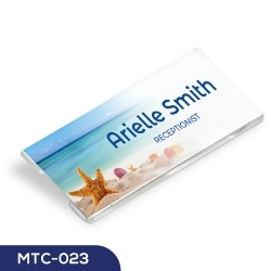 Reusable Acrylic Name Badges MTC-023