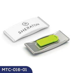 Reusable Metal Name Badge MTC-016-01