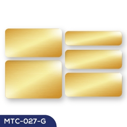 Promotional Aluminum Badges MTC-027-G