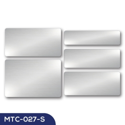 Aluminum Name Badge MTC-027-S