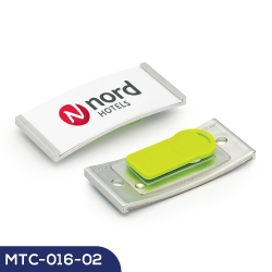 Reusable Metal Name Badge MTC-016-02