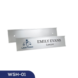 Silver Door and Wall Sign Holder WSH-01