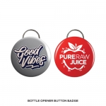 Branding Bottle Opener Button Badge