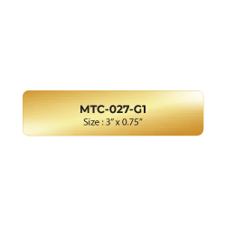 Aluminum Name Badge 3x0.75 inch MTC-027-G1