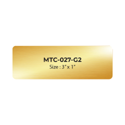 Aluminum Name Badge 3x1 inch MTC-027-G2