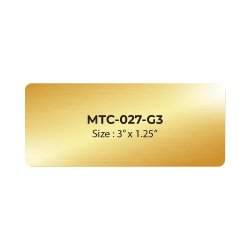 Aluminum Name Badge 3x1.25 inch MTC-027-G3