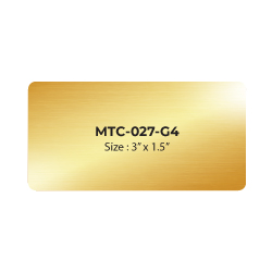 Aluminum Name Badge 3x1.5 inch MTC-027-G4