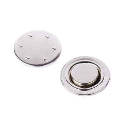 Plated Round Magnetic Badge Holder MTC-005