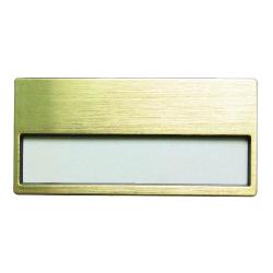 Insert Name Badge Gold MTC-015 Gold