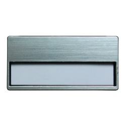 Insert Name Badge Silver MTC-015 Silver