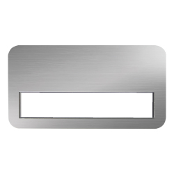 Reusable Insert Name Badges Silver