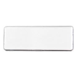 Lens Cover Name Badges White MTC-018-W