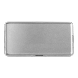 Lens Cover Name Badges Silver MTC-019-S