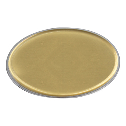 Lens Cover Oval Name Badges Gold MTC-020-G