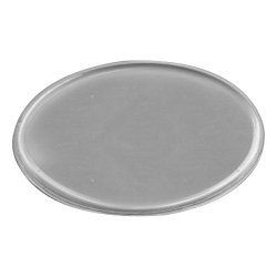 Lens Cover Oval Name Badges Silver MTC-020-S