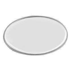 Lens Cover Oval Name Badges White MTC-020-W