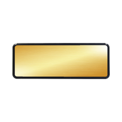 Reusable Name Badges Gold MTC-025-G